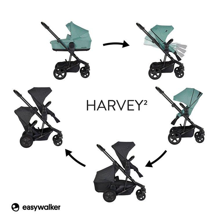 Easywalker Harvey² Wózek głęboko-spacerowy Coral Green
